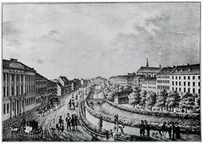 Karol Auer, View of Lemberg's main boulevard, 1830